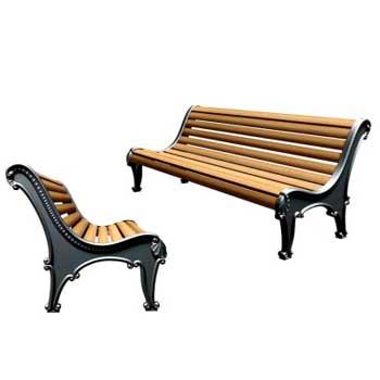 Чугунная скамейка Ск-0122