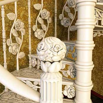 """Чугунная винтовая лестница """"вл-4104"""""""