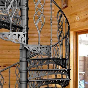 """Чугунная винтовая лестница """"вл-4106"""""""