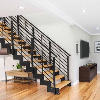 Лестница на пилообразном косоуре