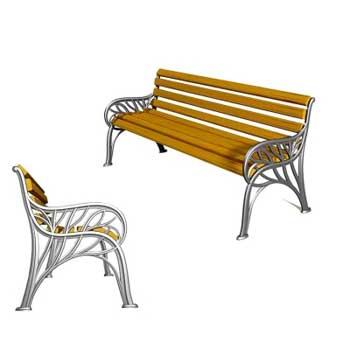 Чугунная скамейка Ск-0117