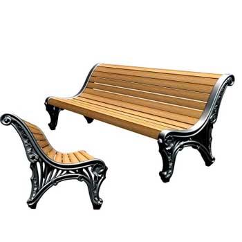 Чугунная скамейка Ск-0121