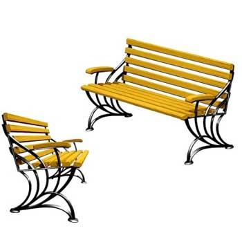 Чугунная скамейка Ск-0127